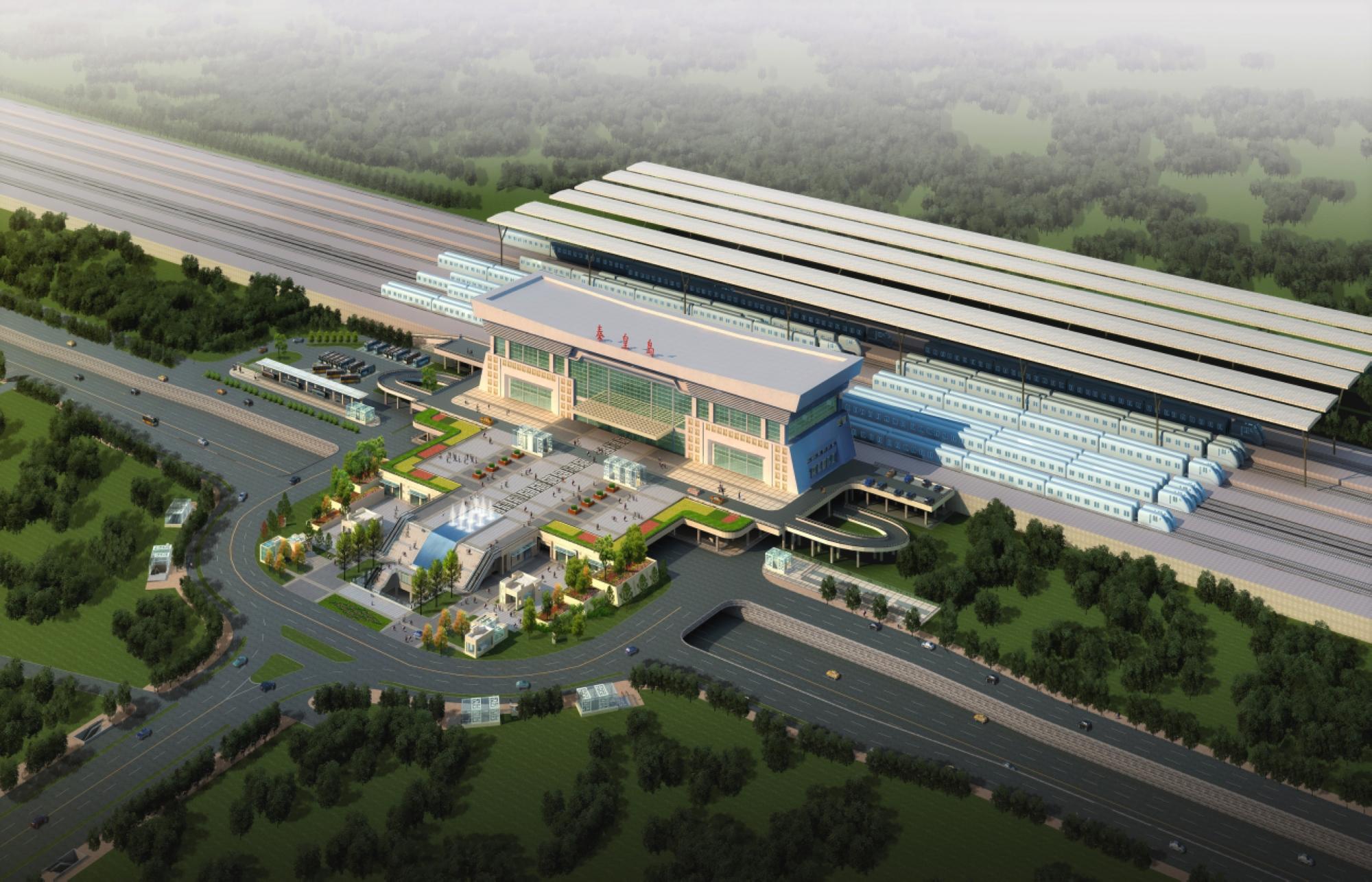 最新的秦皇岛火车站建成效果图及底商分布图首度公开
