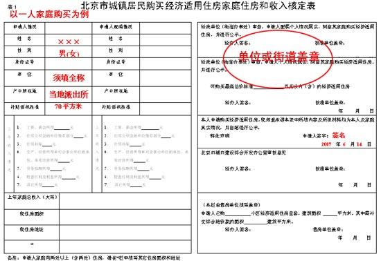 在北京市如何申请经济适用房购买资格
