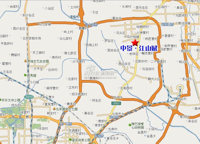 中景江山赋楼盘交通位置图;