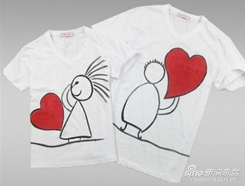 亲子装手绘t恤图案