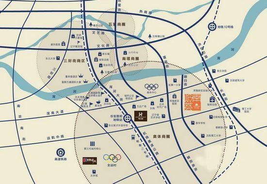 项目位于东陵区朗日街21号,在地图上看了离浑南的奥体中心不远,但是他
