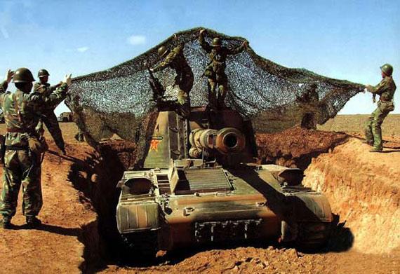 解放军机步旅战车因散热口未伪装遭精确打击