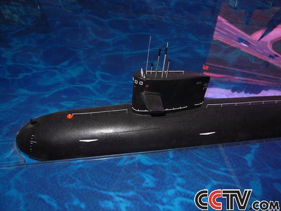 核潜艇现身军博成就展 中国海军核心战力亮相