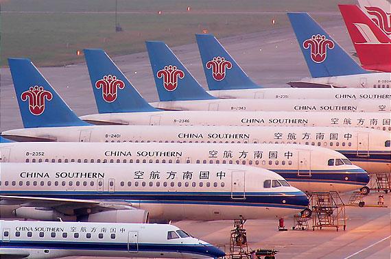 南航目前拥有310多架运输机成为国内最大机队