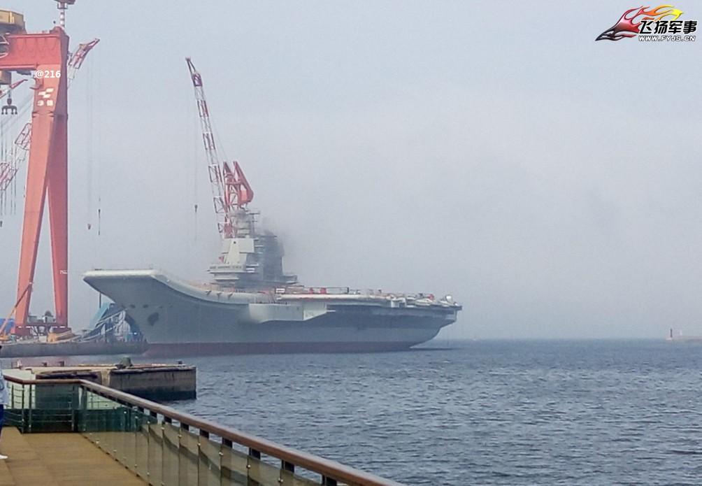 国产航母再次发动机测试
