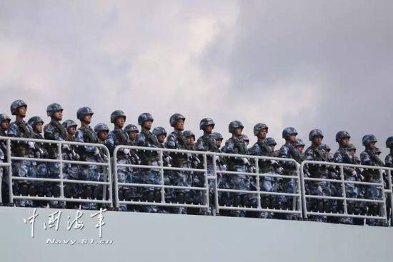 中国海军首次海外驻军