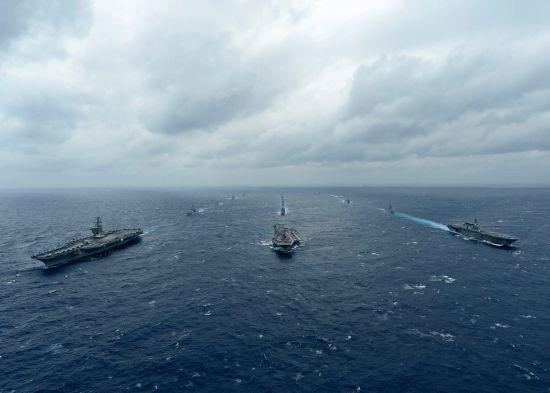 美日印海上军演施压中国