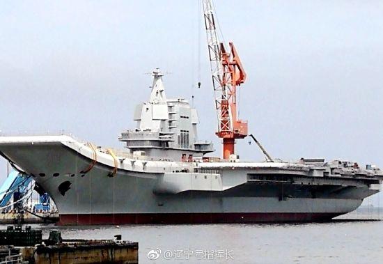 国产航母舾装最新进度