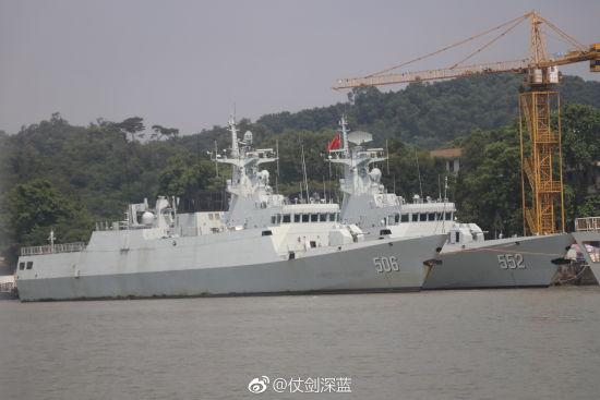 解放军2艘056轻型护卫舰