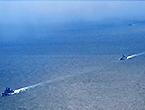 中国舰队驶向北太遭日监视