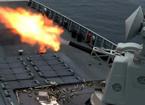 052D舰南海怒射洒满弹壳