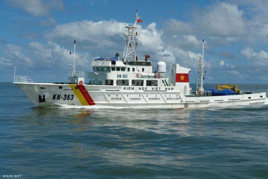 越南装备750吨级渔政船