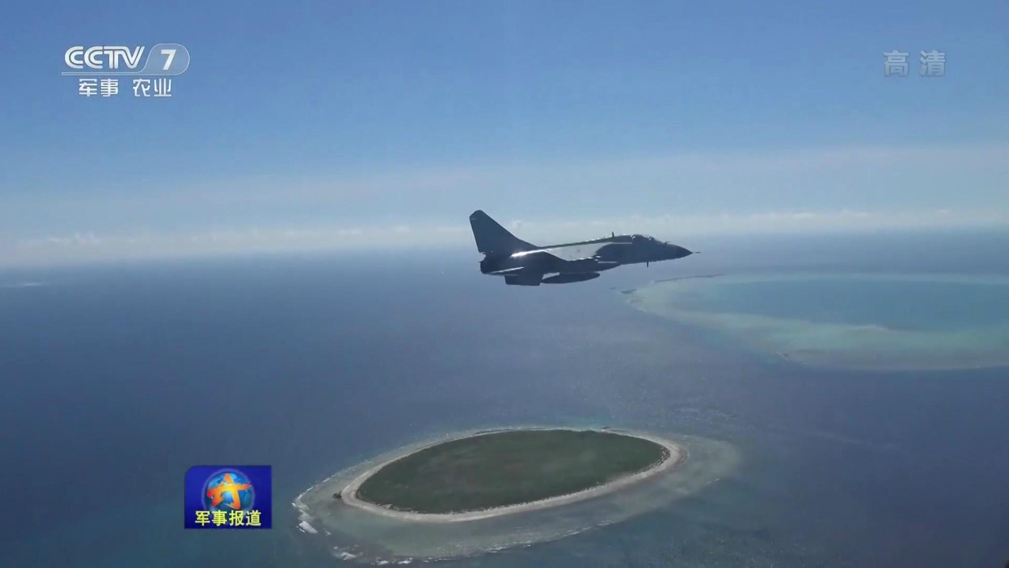 中国飞豹巡航南海岛礁