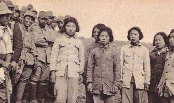 中国抗战女兵被俘去哪了