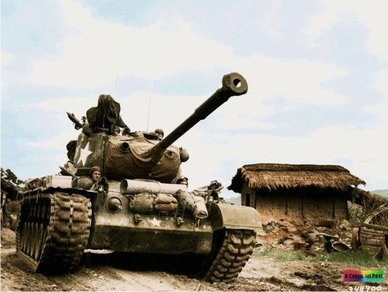 朝战上的联合国军重武器
