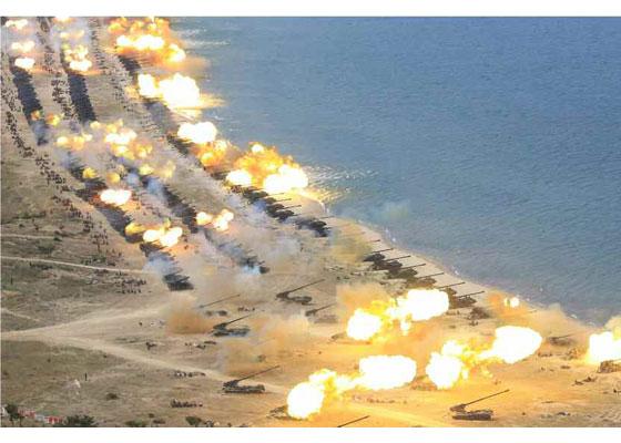朝鲜最大规模火力演习