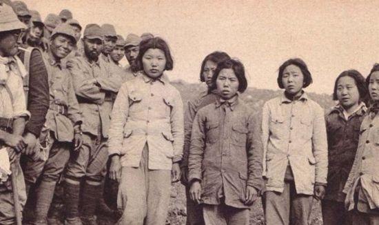惨遭日军俘虏的中国女兵