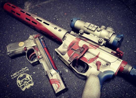 美女枪械 你也要来一枪吗