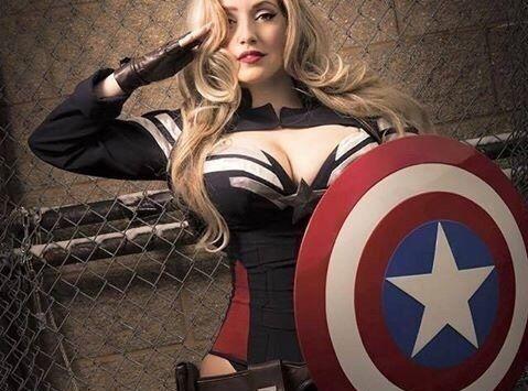 女版美国队长的性感诱惑