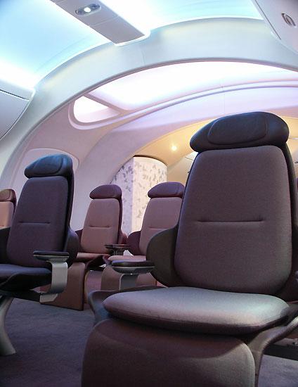 图文:波音787梦想飞机公务舱座椅特写