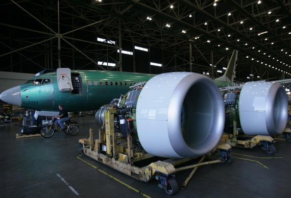 图文:波音737飞机的cfm-56发动机