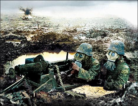 组图:从未公开的一战巴雪戴尔战役照片