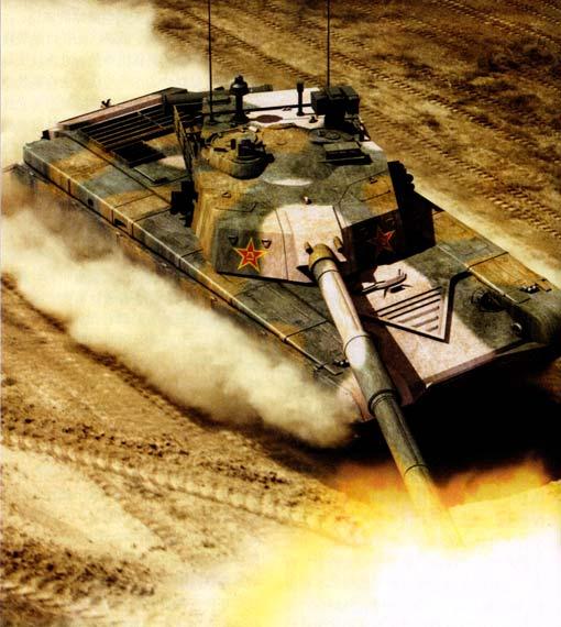 图文:加装140毫米火炮的99式坦克想像图