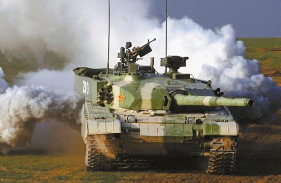图文:99式坦克主炮并不能很好欧美三代坦克装甲