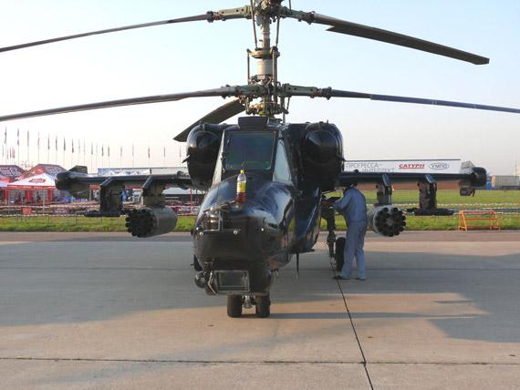 图文:卡-50单座攻击直升机静态展示