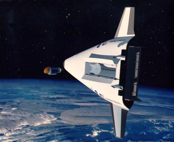图文:美国X-33空天飞机太空飞行