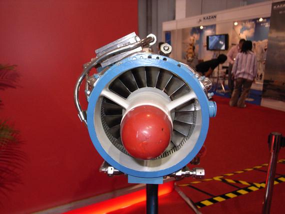 图文:MD120小型涡扇发动机进气口特写