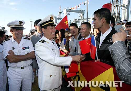 中国海军编队抵达土伦中法舰队将联合军演(图)