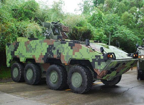 图文:采用数码迷彩的台湾云豹装甲车