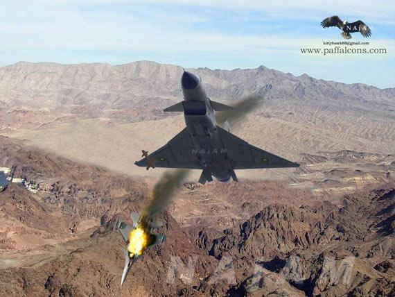 图文:巴基斯坦歼10战机击落苏-30MKI想像图_