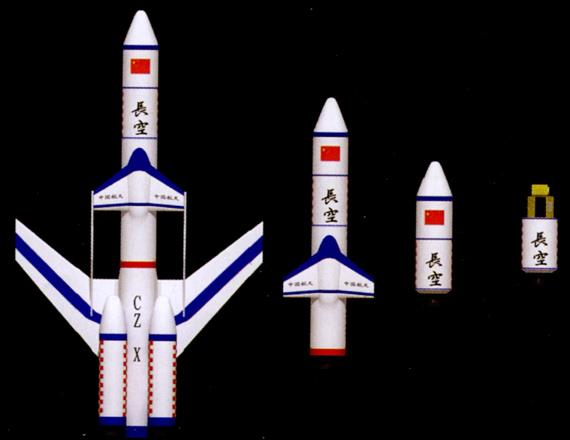 图文:长空小型固体运输火箭为三级火箭布局