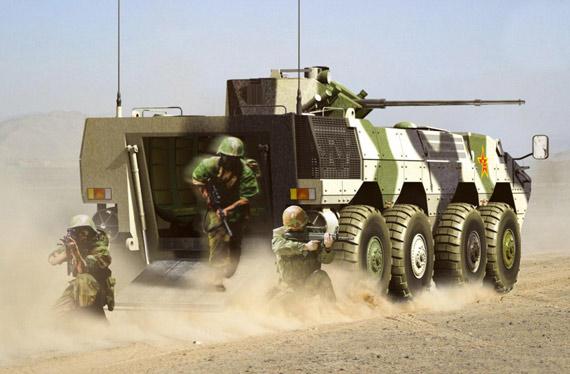 俄媒称中国新型装甲车性能超越BTR-90(组图)