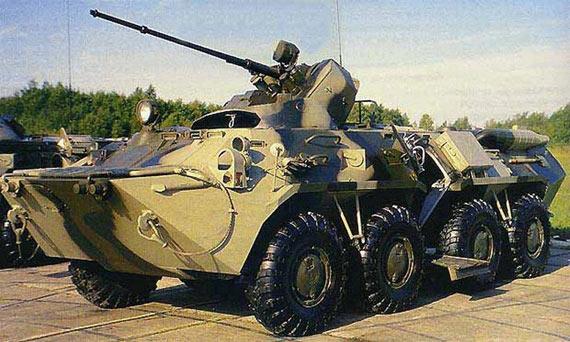图文:俄制BTR-80战车换装新型30毫米炮塔