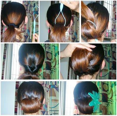 梳头发型步骤图片
