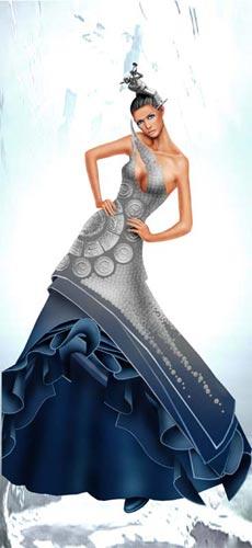 中国国际服装设计大赛参赛作品-边惠中(组图)图片