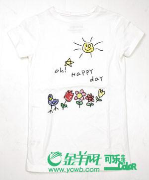 秋日卡通logo小t恤纯真可爱