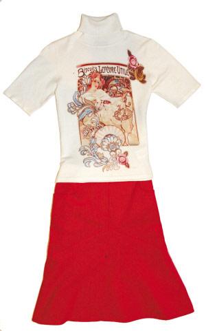 组图:复古鱼尾裙抱歉身材显凹凸(10)