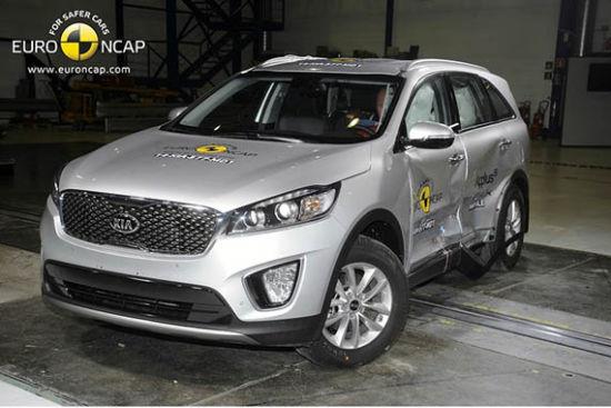 起亚索兰托获Euro-NCAP五星最高安全评级