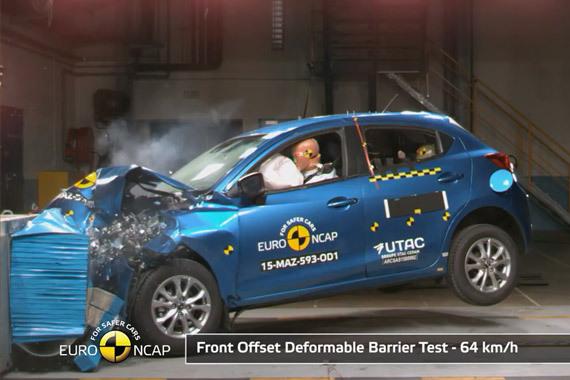视频:新马自达2获Euro-NCAP四星安全评级