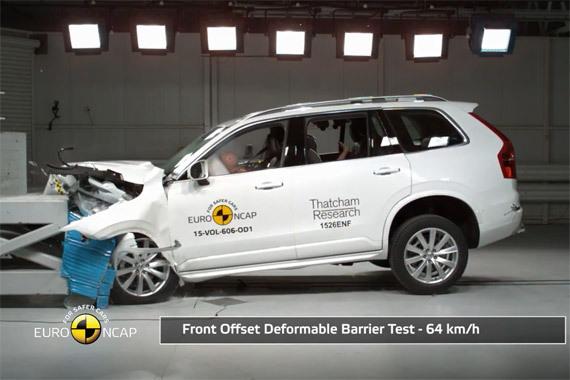 视频:新沃尔沃XC90欧洲碰撞测试获5星