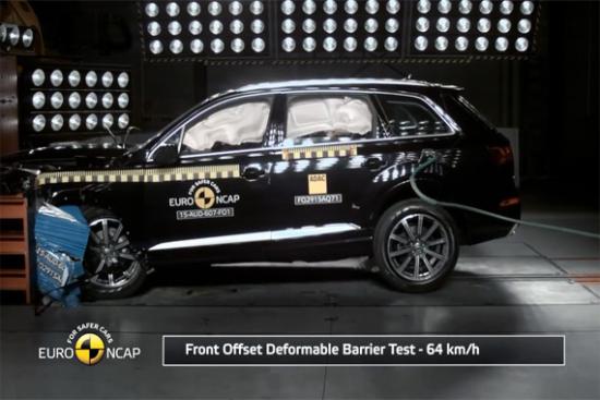 视频:奥迪Q7获得欧洲碰撞测试5星评价