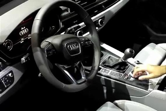 视频:胖哥带你看车展  奥迪A4内饰(一)