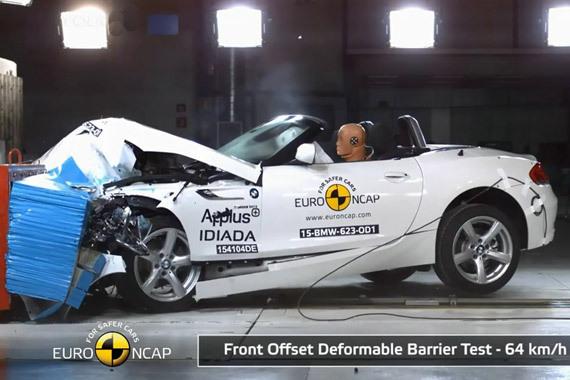 视频:入门级跑车宝马Z4 最新碰撞测试