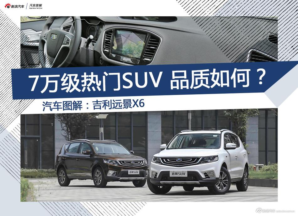 [图解]吉利远景X6 7万级热门SUV品质如何?