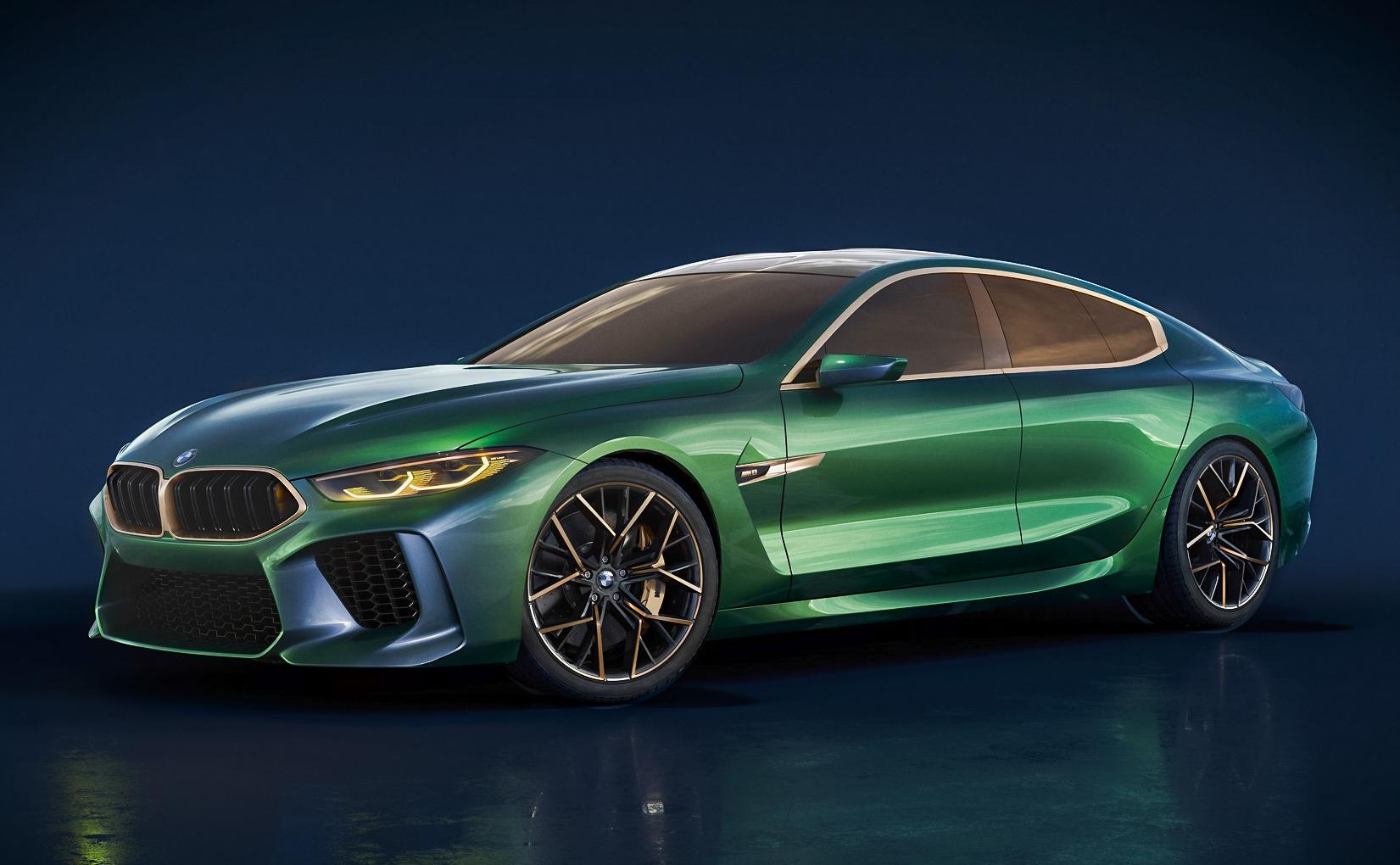 图集|M8 Gran Coupe概念车实图 宝马未来全看它