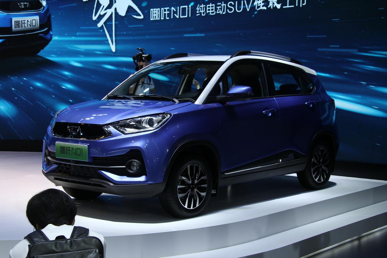 2018广州车展实拍:哪吒N01新能源